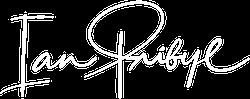 IanPribyl.com logo - white